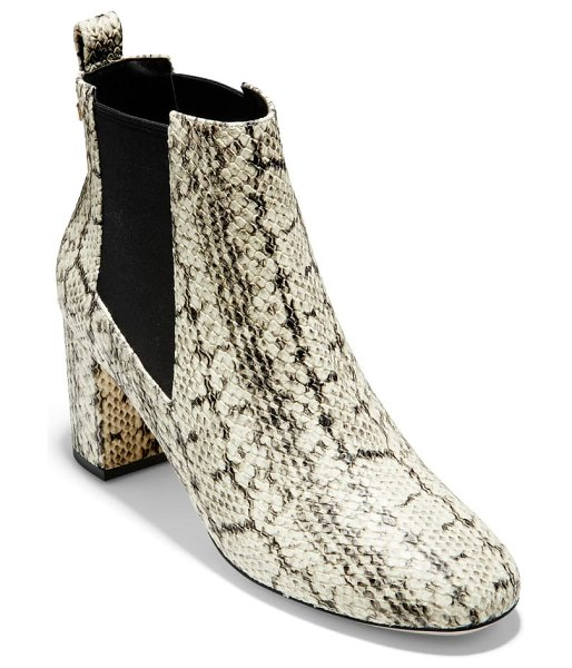Cole Haan nitasha bootie in natural snake print leather
