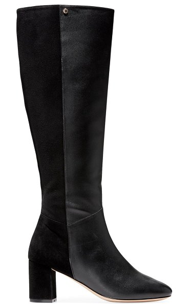Cole Haan rianne knee-high leather boots in black