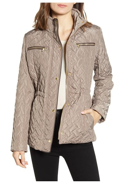 Cole Haan Signature quilted jacket in cashew