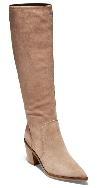 Cole Haan willa knee high boot in stone taupe