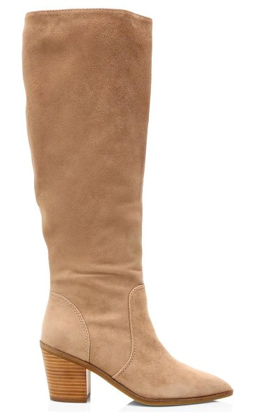 Cole Haan willa knee-high suede boots in stone