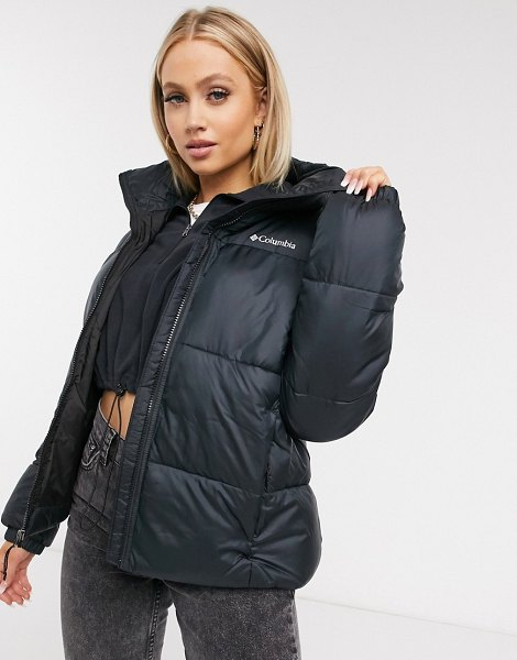 Columbia puffect jacket in black in black