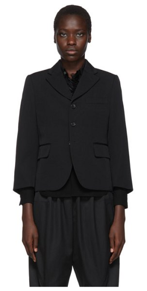 Comme Des Garcons black wool gabardine blazer in 1 black