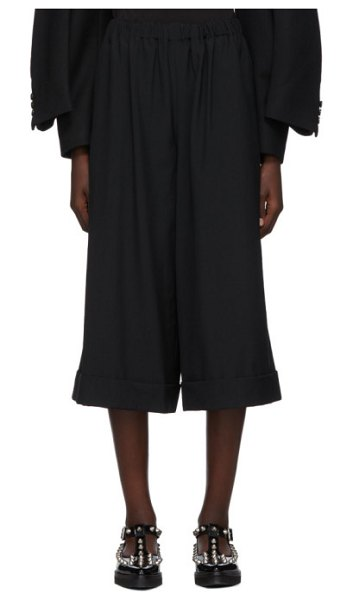 Comme Des Garcons black wool wide-leg trousers in 1 black