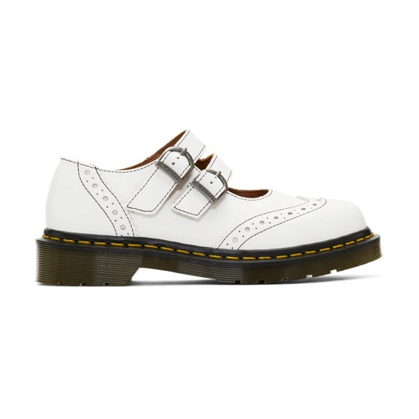 Comme des Garcons Comme des Garcons white dr. martens edition made in england mary jane loafers in 3 white