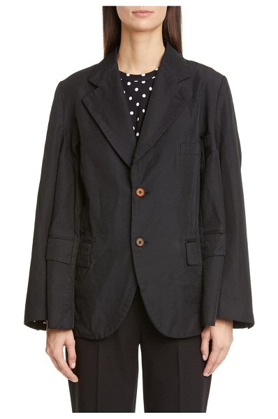 Comme Des Garcons double sleeve oversized blazer in black