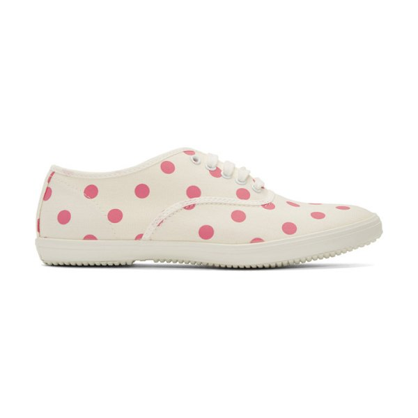 Comme des Garcons Girl beige and pink polka dot plimsoll sneakers in 2 pink