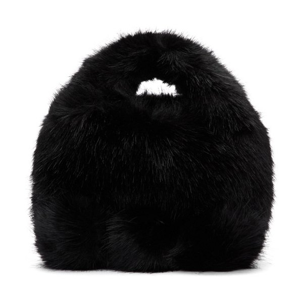 Comme des Garcons Girl black faux-fur bag in 1 black