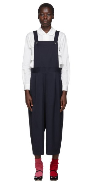 Comme des Garcons Girl navy wool gabardine jumpsuit in 1 navy