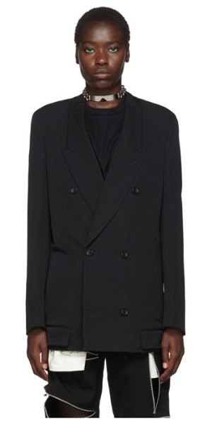 Comme Des Garcons Homme Plus black wool double-breasted blazer in 1 black