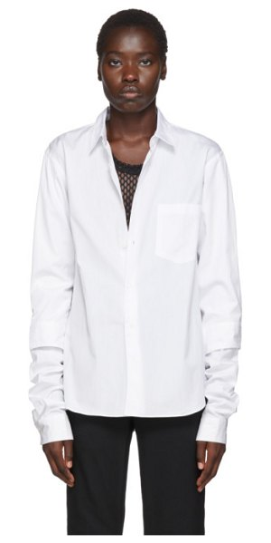 Comme Des Garcons Homme Plus white double layer shirt in 2 white