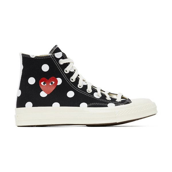 Comme Des Garcons PLAY converse edition polka dot heart chuck 70 high sneakers in black
