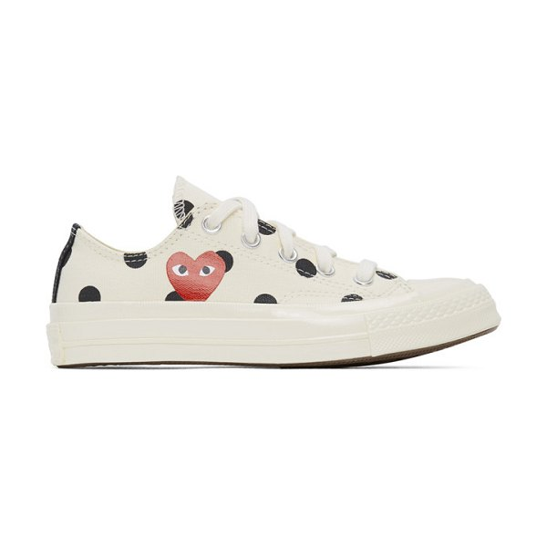 Comme Des Garcons PLAY converse edition polka dot heart chuck 70 low sneakers in white