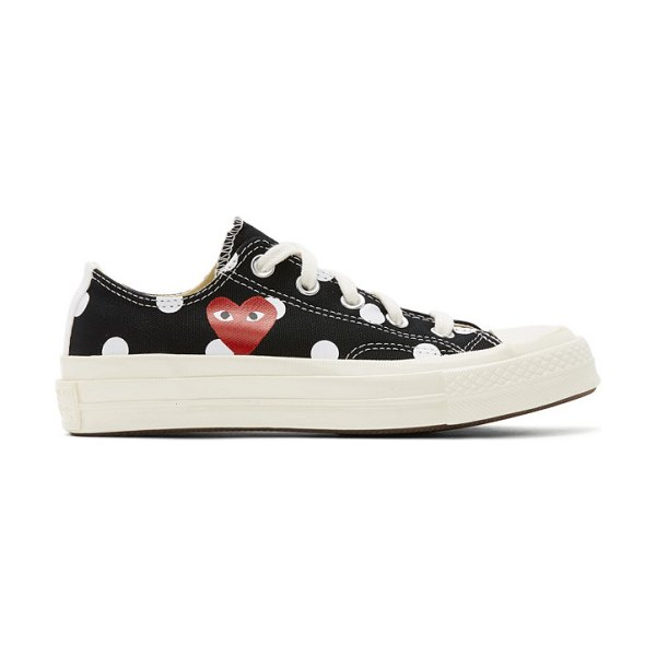 Comme Des Garcons PLAY converse edition polka dot heart chuck 70 low sneakers in black