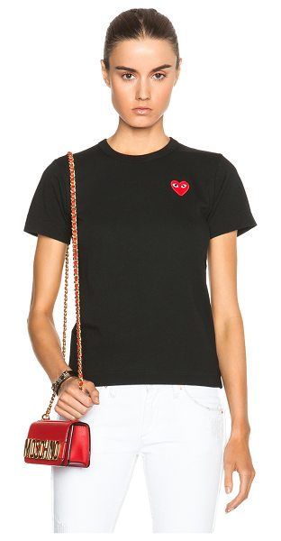 Comme Des Garcons PLAY Jersey Red Emblem Tee in black - 100% cotton.  Made in Japan.