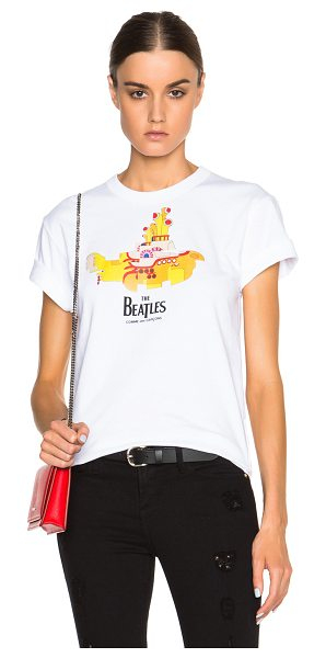 Comme Des Garcons The Beatles x  Yellow Submarine Cotton Tee in white - 100% cotton.  Made in Japan.