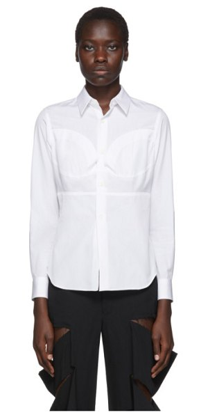 Comme Des Garcons white breast seam detail shirt in 2 white