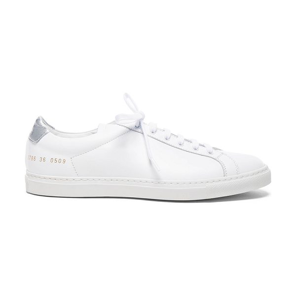 COMMON PROJECTS Leather Achilles Retro Low - Leather upper with rubber sole.  Made in Italy.  Padded...
