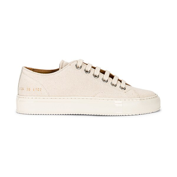 Common Projects tournament low canvas sneaker in off white