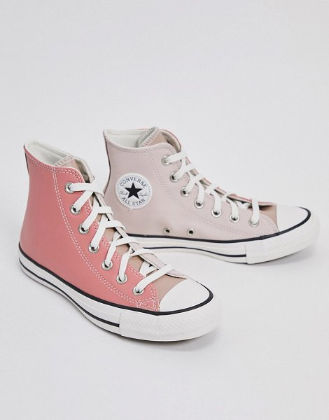 Converse chuck taylor all star hi sneakers in pink tones in pink