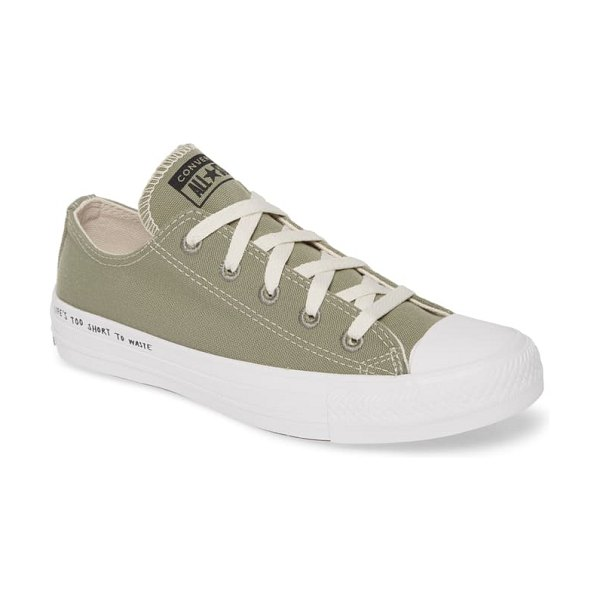 Converse chuck taylor all star renew low top sneaker in jade stone/ black/ white