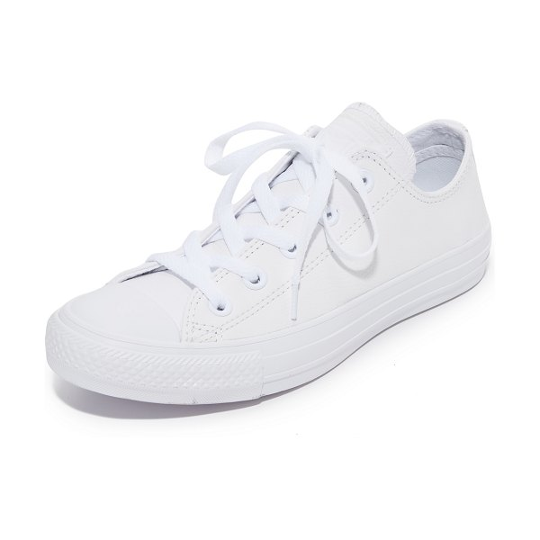 Converse chuck taylor all star sneakers in white monochrome