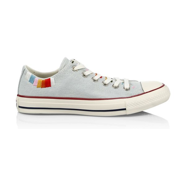 Converse self expression multicolor-embroidered all star sneakers in blue