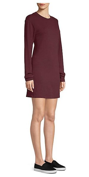 Cotton Citizen cotton tokyo shift dress in sangria - Everyday cotton T-shirt dress in loose-fit silhouette...