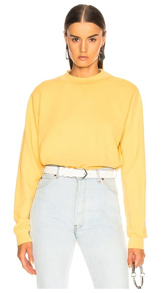 Cotton Citizen Milan Crew in yellow - 100% cotton.  Made in USA.  Machine wash.  Rib knit trim.