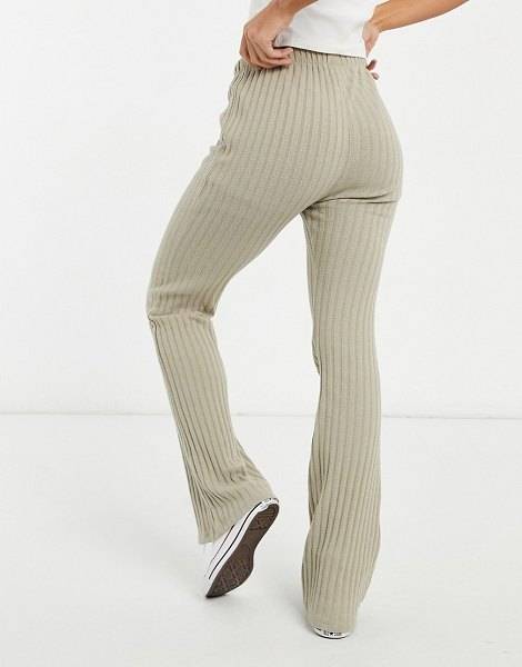 Cotton:On cotton: on textured ribbed pants in taupe-beige in beige