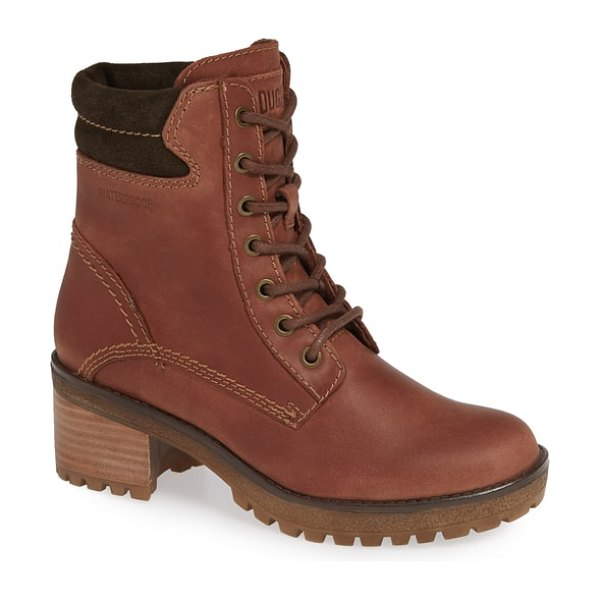 COUGAR danbury waterproof hiking boot in brown leather - Made with Polar Plush lining and temperature rated to...