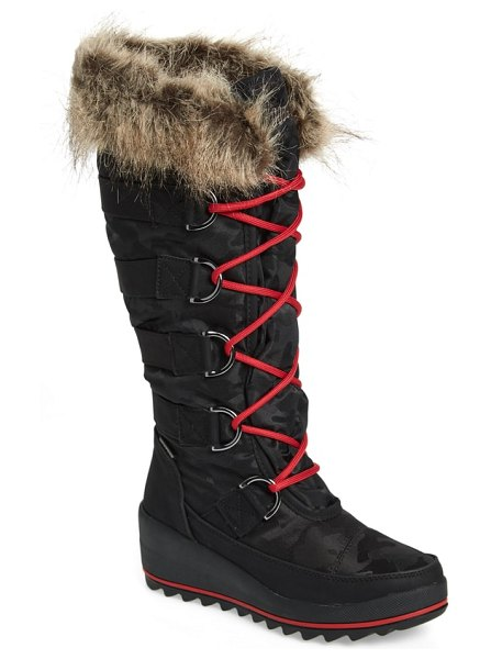 COUGAR lancaster waterproof snow boot in black fabric - Polar Plush lining and a faux-fur cuff add to the cozy...