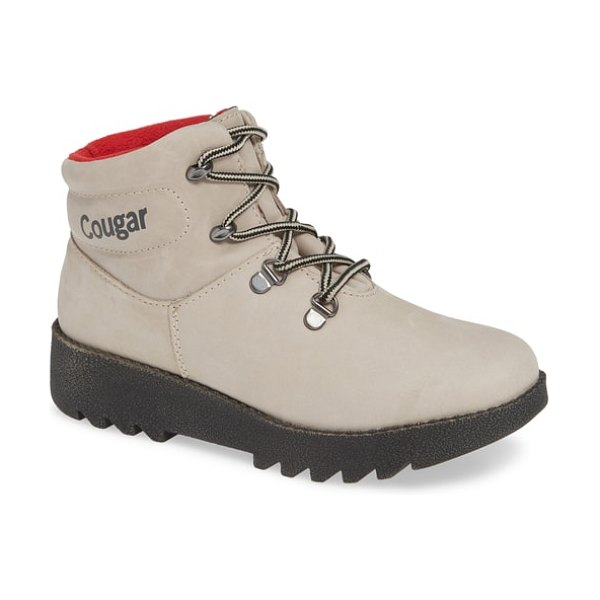 COUGAR paige waterproof insulated bootie in mushroom leather - Temperature rated to -30 degreeC/-22 degreeF and warmed...
