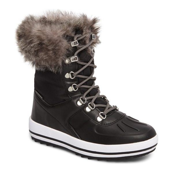 COUGAR viper waterproof snow boot with faux fur trim in black - Rain, snow or just core-chilling clear days, this...