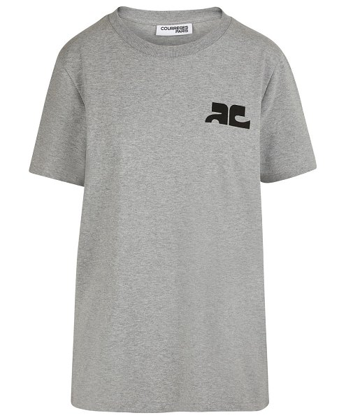 Courreges Logo t-shirt in ash grey