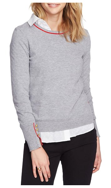 Court & Rowe cotton blend sweater in silver heather