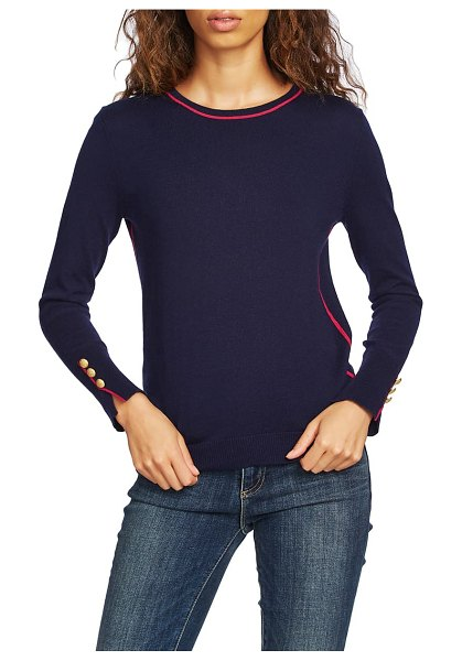 Court & Rowe cotton blend sweater in navy crush