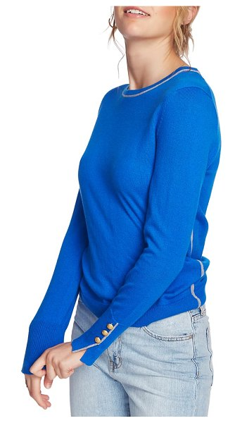 Court & Rowe cotton blend sweater in varsity blue