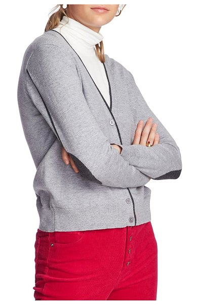 Court & Rowe elbow detail tipped cardigan in silver heather