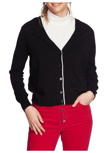 Court & Rowe elbow detail tipped cardigan in rich black