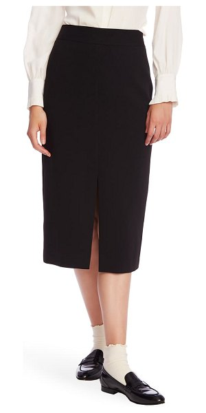 Court & Rowe front slit crepe pencil skirt in rich black