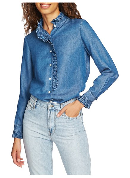 Court & Rowe ruffle tencel lyocell shirt in authentic