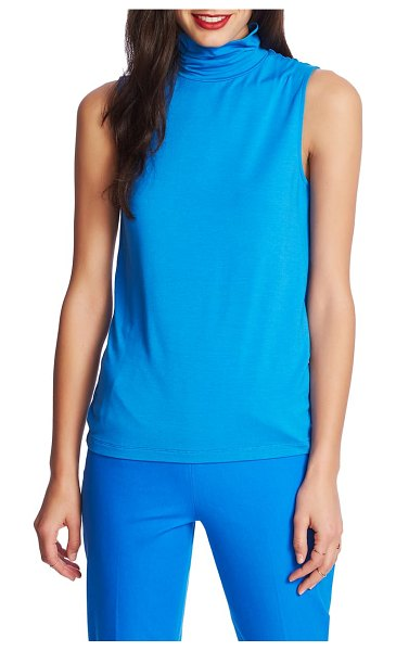 Court & Rowe sleeveless turtleneck top in varsity blue