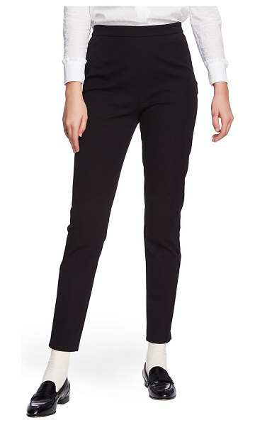Court & Rowe slim stretch twill pants in rich black