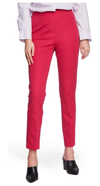 Court & Rowe slim stretch twill pants in pink obsession