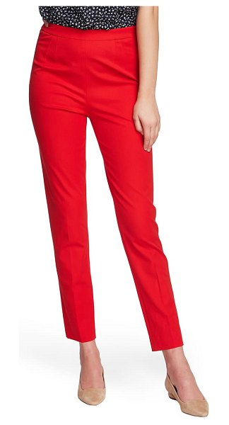 Court & Rowe slim stretch twill pants in preppy red