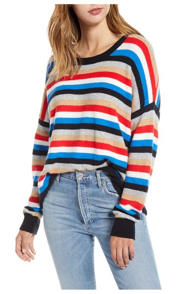Court & Rowe stripe crop sweater in preppy red