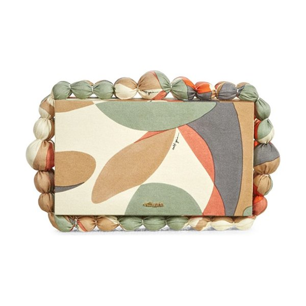 Cult Gaia eos bauble colorblocked box clutch in light lava