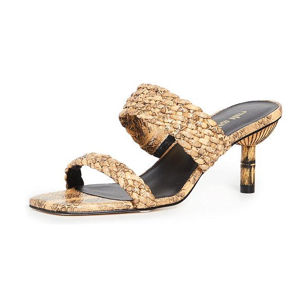 Cult Gaia kal sandals in canary