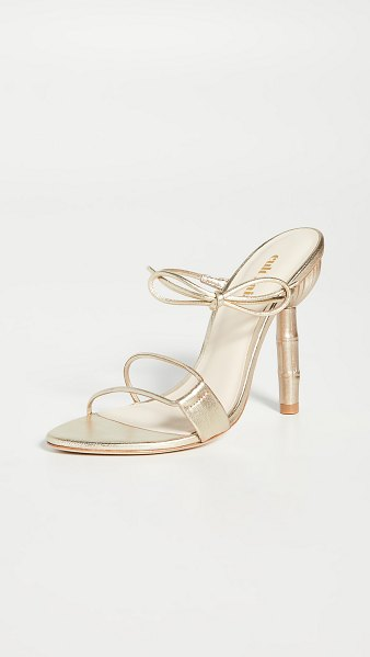 Cult Gaia malia heeled sandals in gold metallic